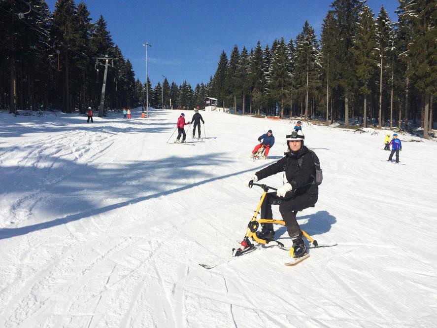 Snowbiken Wintersport