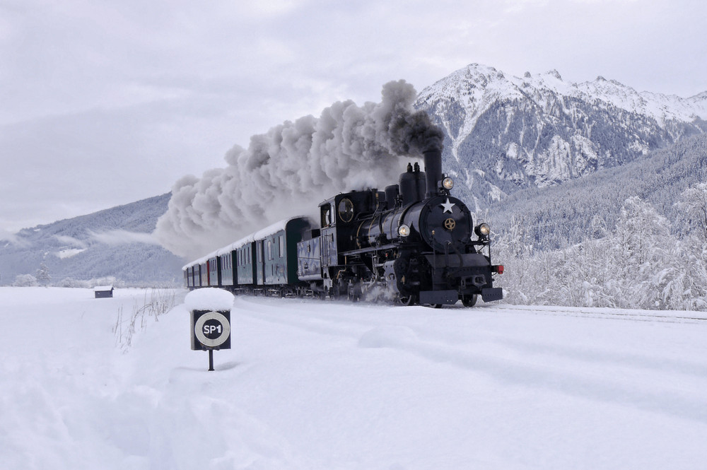 Pinzgauer Lokalbahn, stoomtrein naar Krimmler watervallen