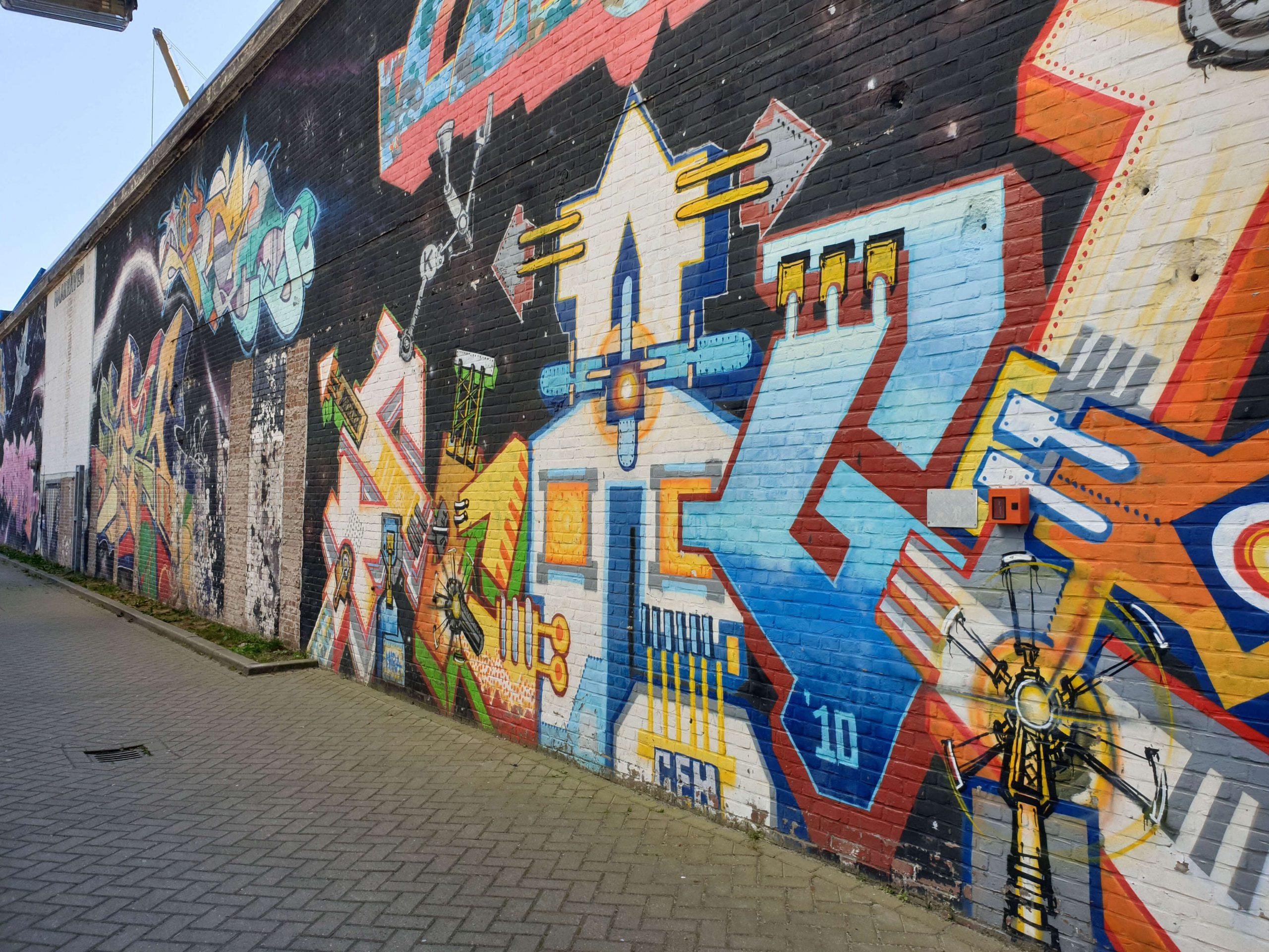 Street Art 1e Lulofsdwarsstraat - Den Haag