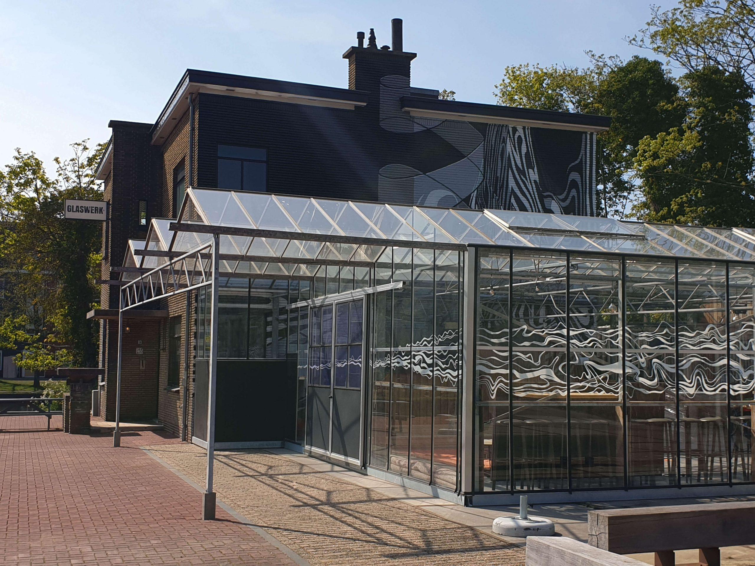 Muurschildering Restaurant Glaswerk