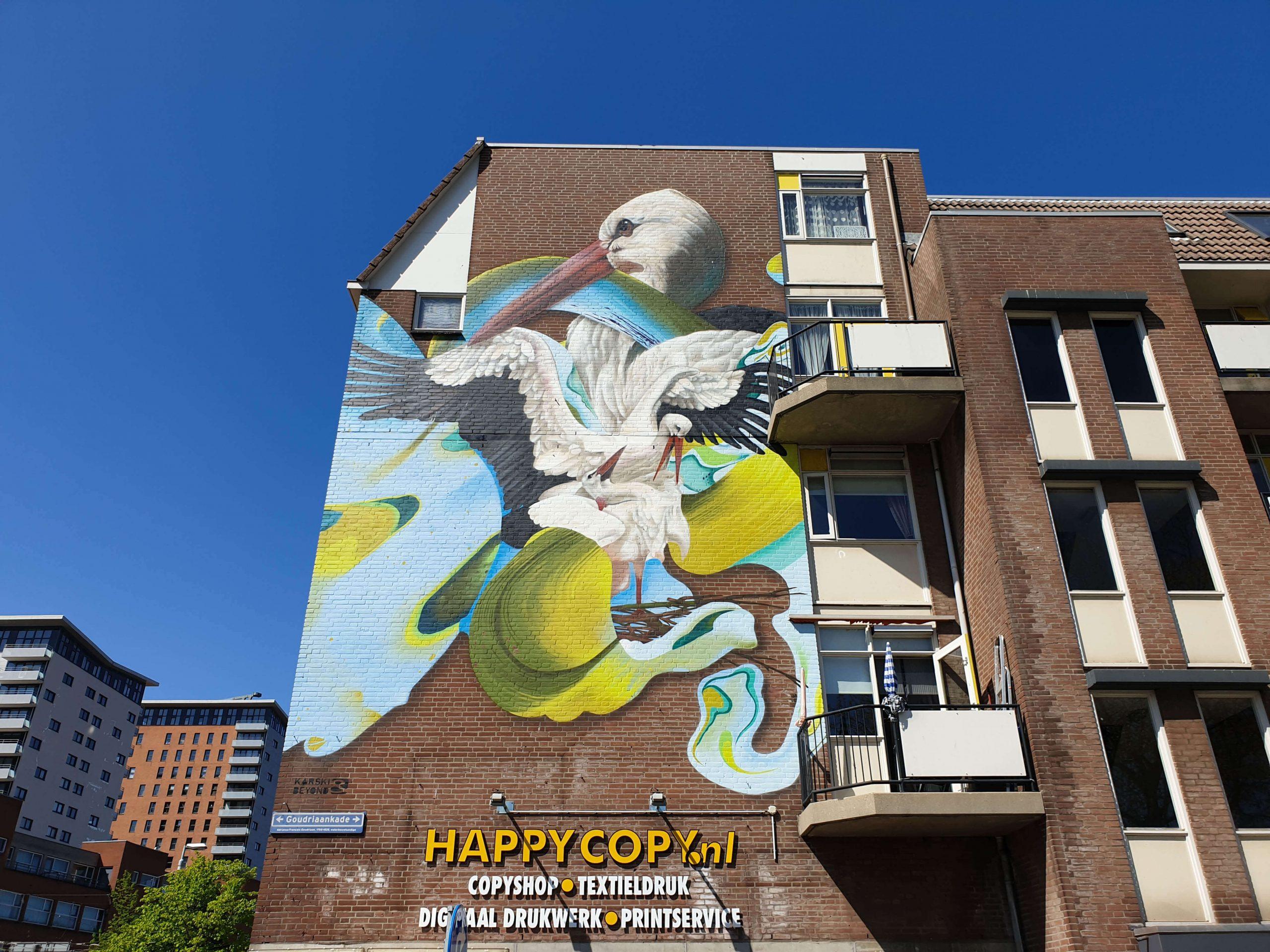 Street Art op Goudriaankade