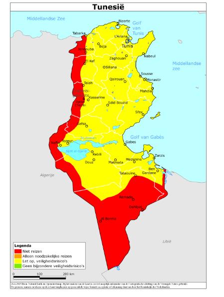 Tunesië reisadvies Rijksoverheid