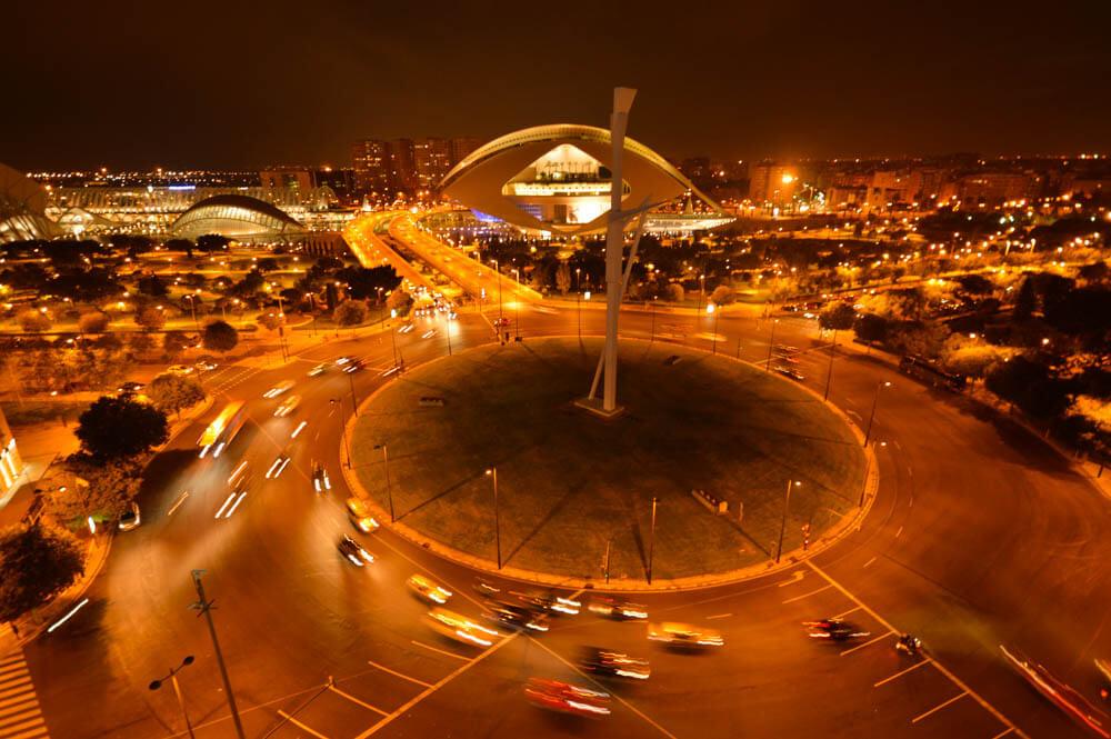 Uitzicht Ciudad de las Arts