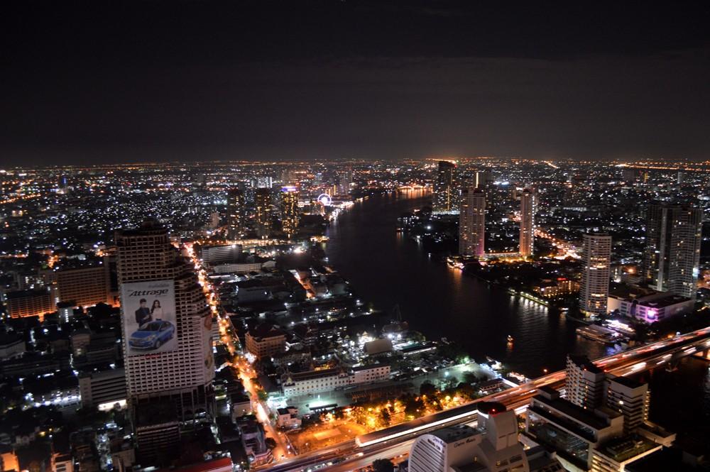 Uitzicht over Bangkok