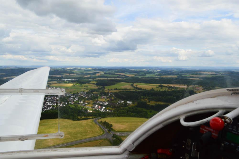 Zweefvliegen over Dauner Maare, Eifel