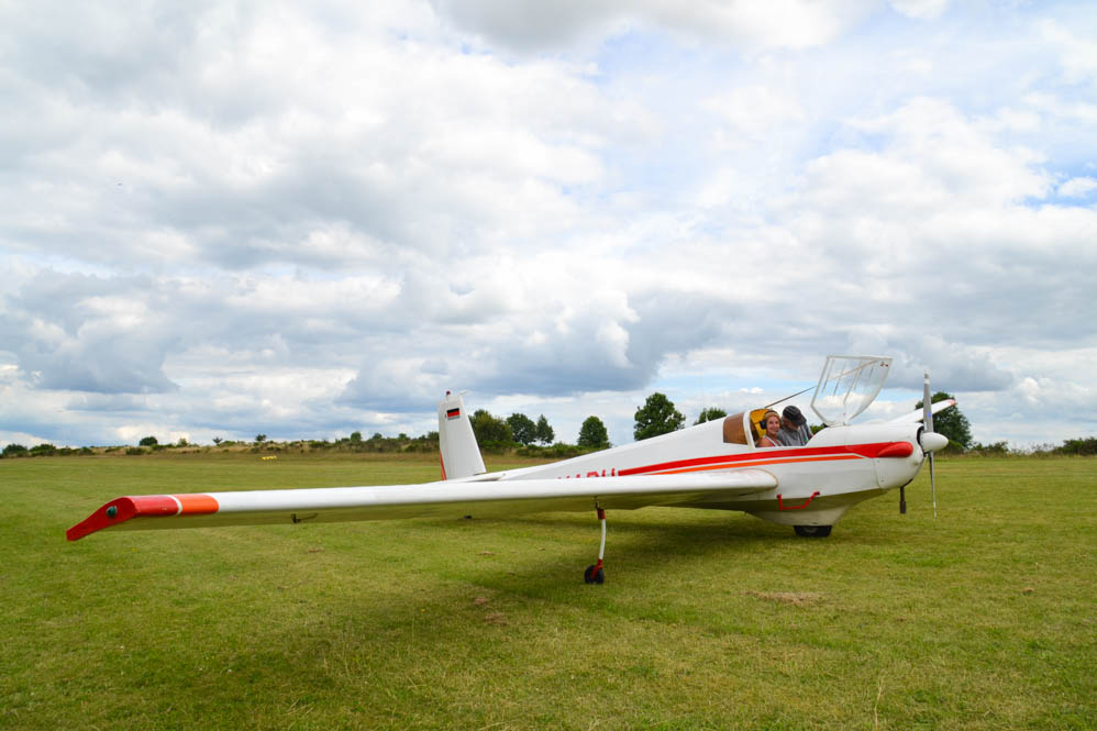 Ultralight-vliegtuig-Eifel-Duitsland