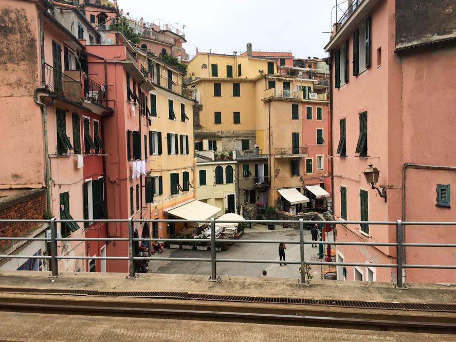 Uitzicht vanaf het treinstation