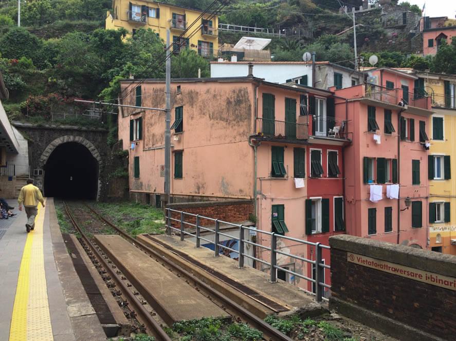Het treinstation van Vernazza