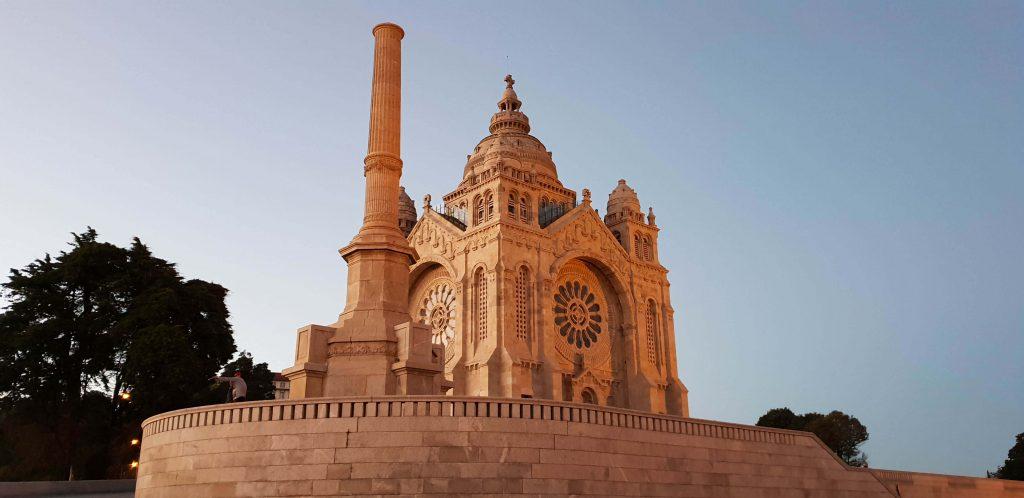 Viano do Castelo en kerk Santa Luzia