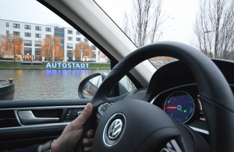 Volkswagen Touareg autotest, off-road track Autostadt