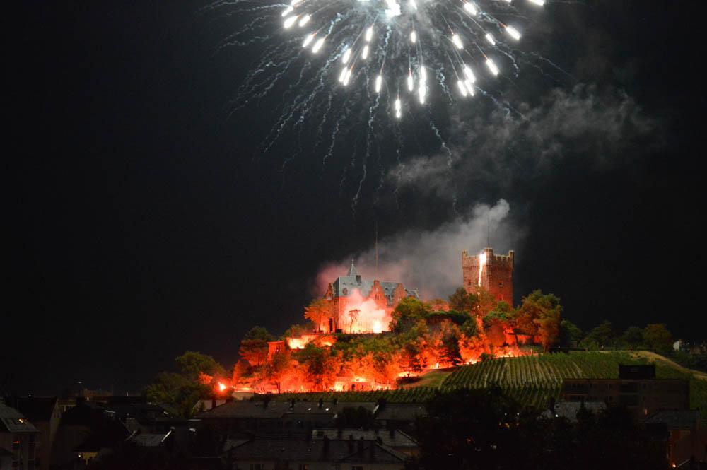 Wijnbouwerfeest van Bingen, vuurwerkshow