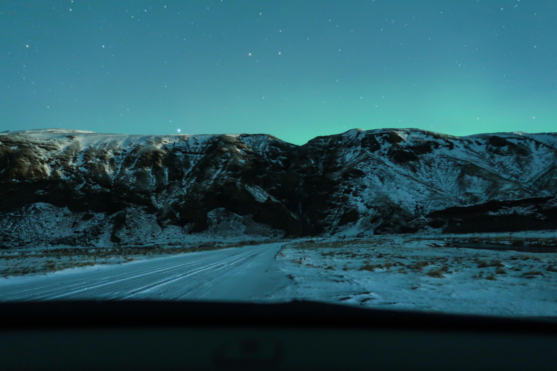 Wanneer naar IJslandvoor noorderlicht
