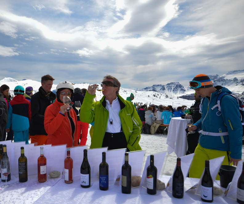 Wijn proeven tijdens skisafari - Alta Badia