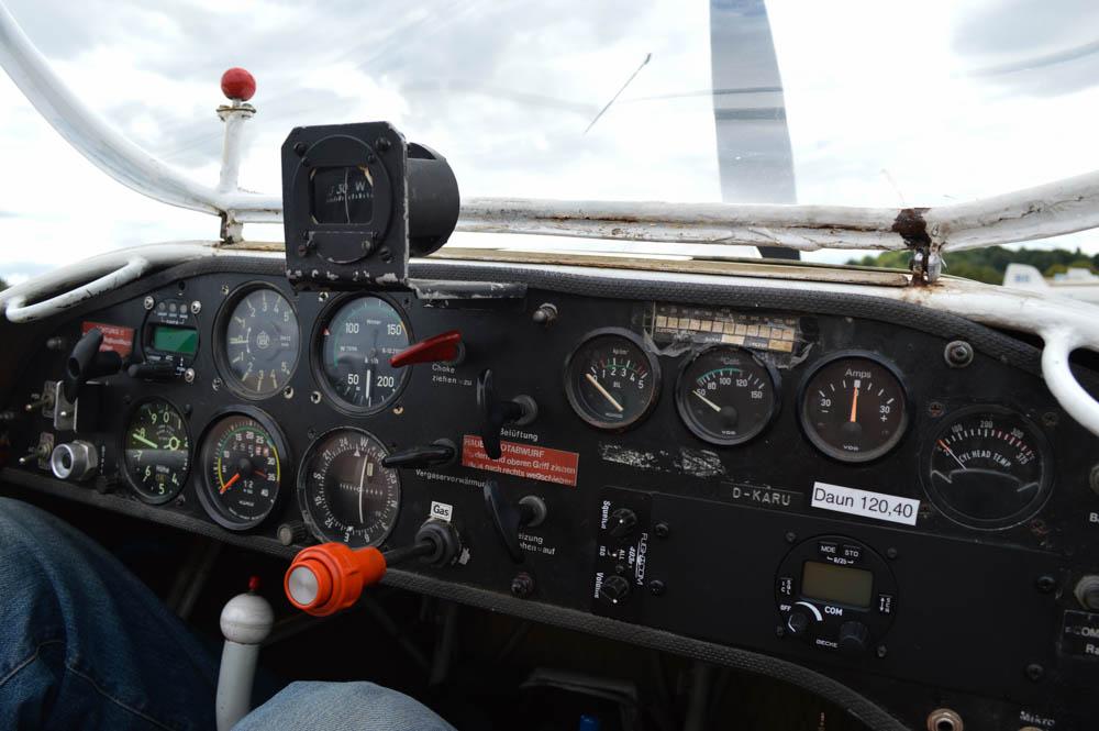 Cockpit zweefvliegtuig