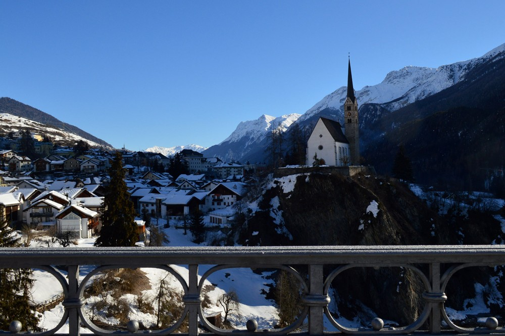 Zwitserland-Scuol-bergen