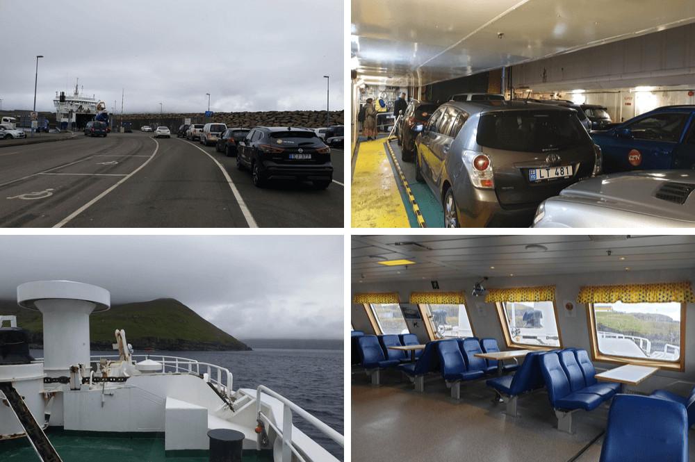 Met de auto op de ferry