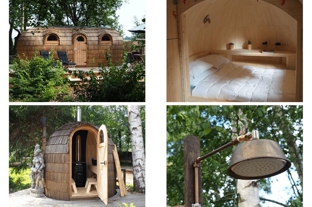 Slapen in een Iglu Hut met sauna – Friesland