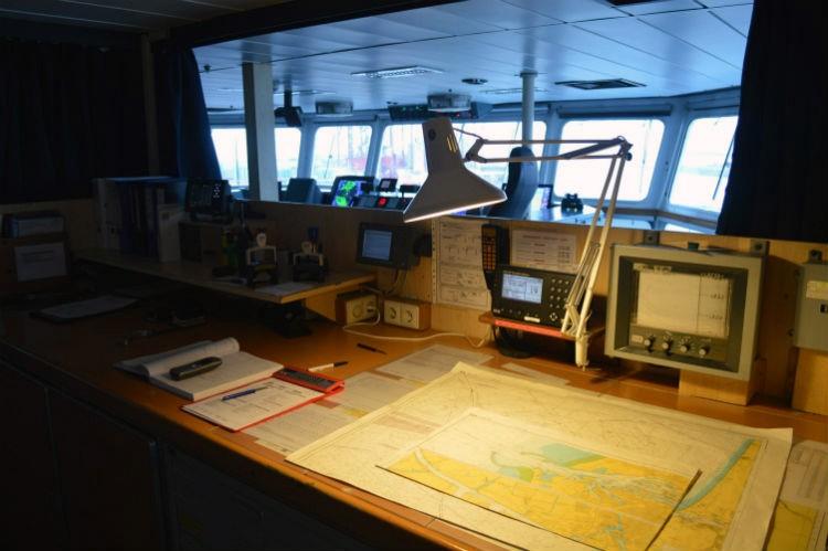 Op de brug van DFDS Seaways