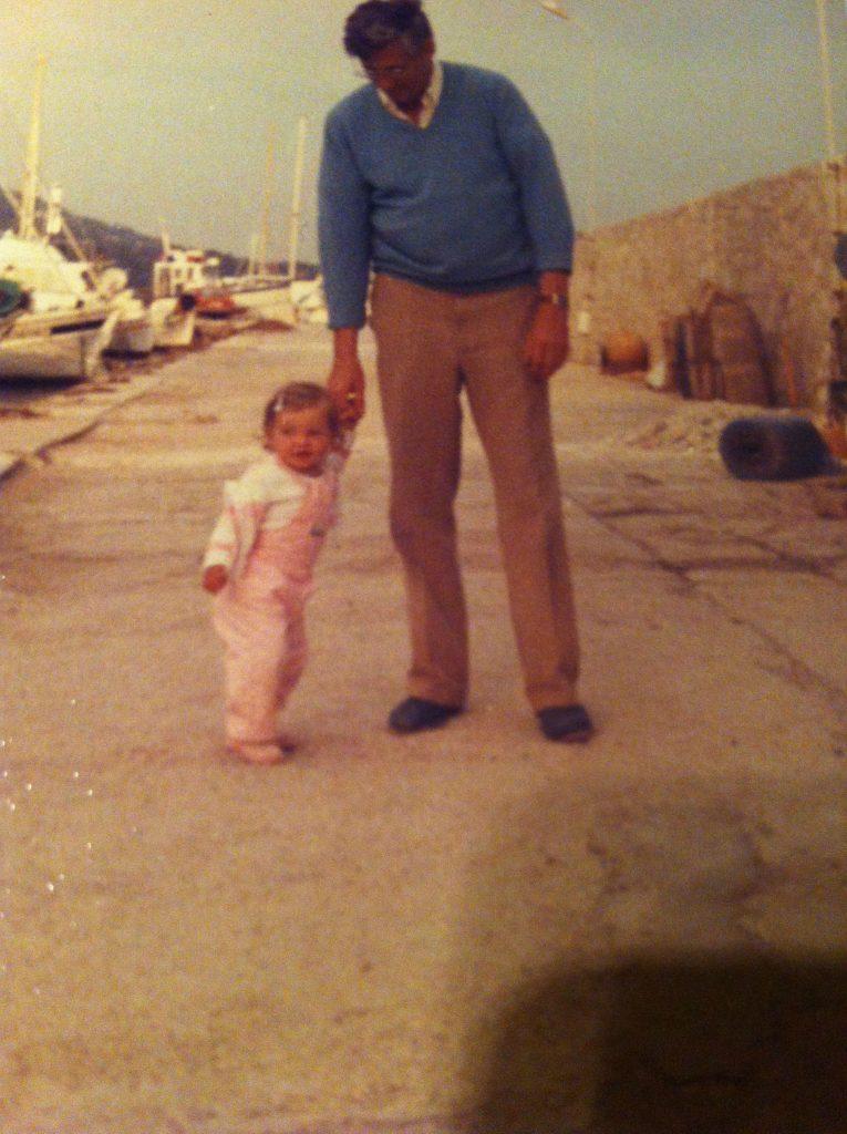 Met Pappa in Frankrijk