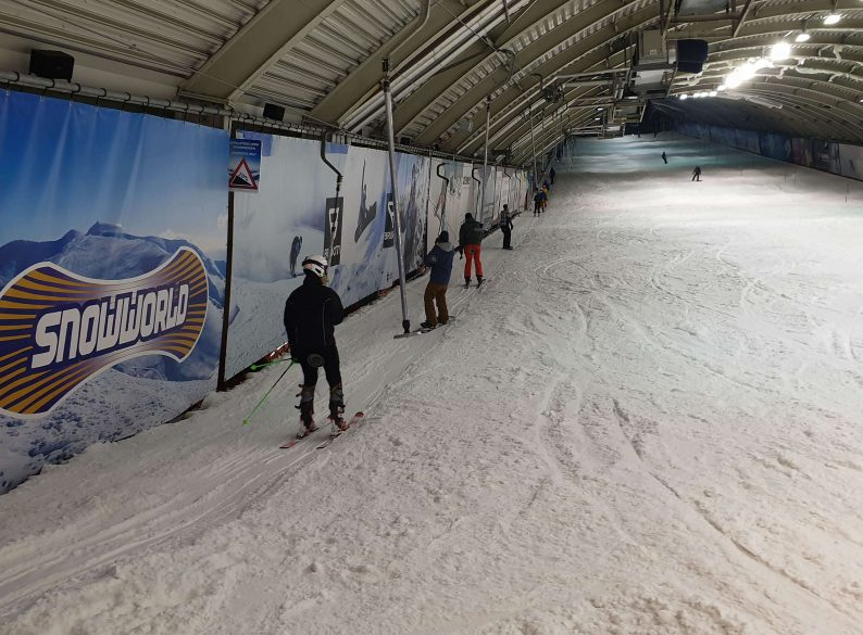 Voorbereiden wintersport in SnowWorld Zoetermeer