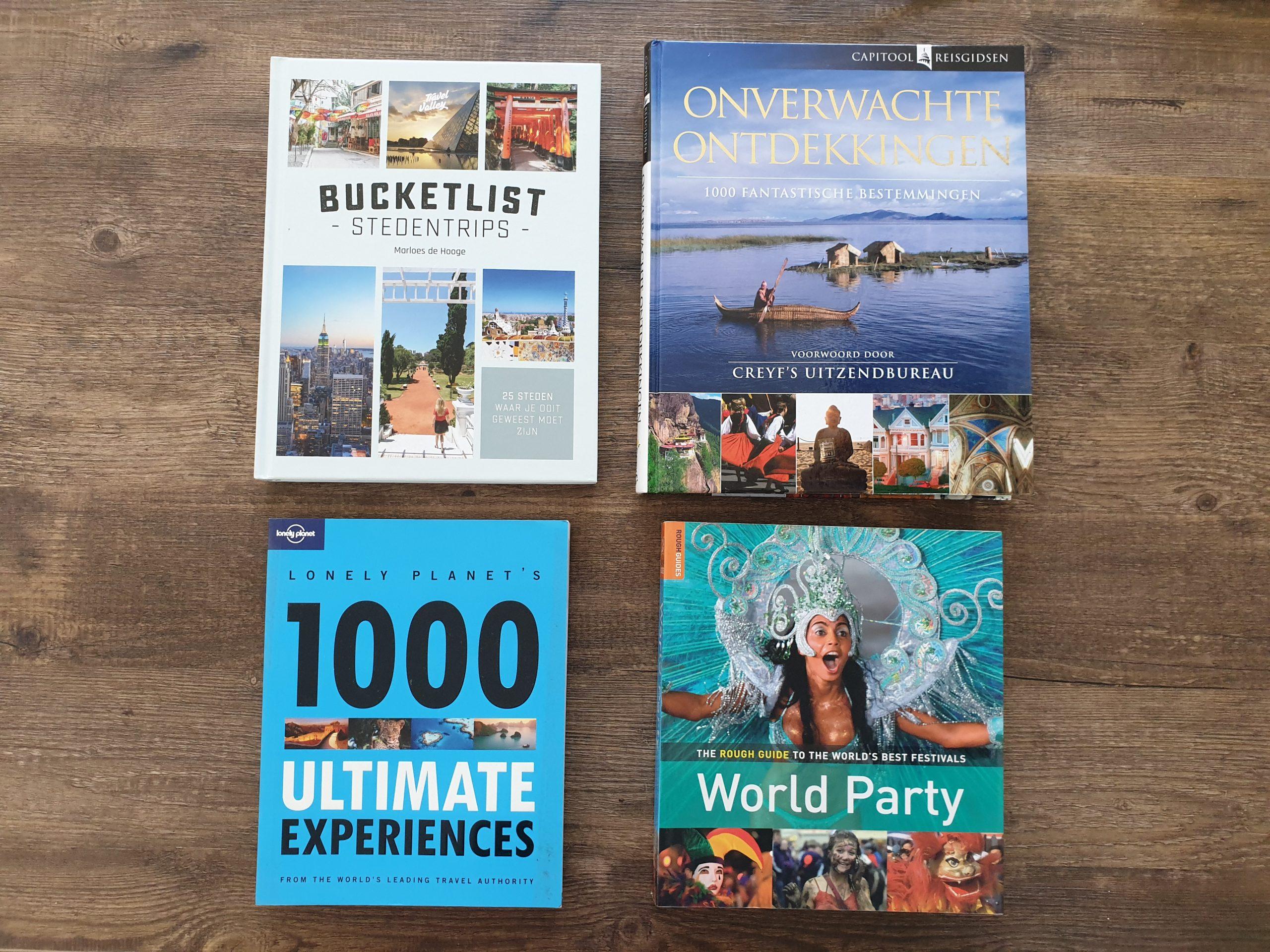 Mooie (koffietafel) boeken over reizen