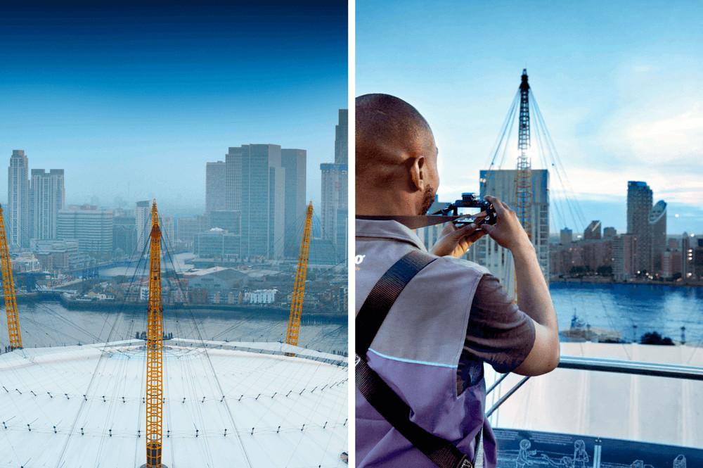 Dak O2 Londen beklimmen