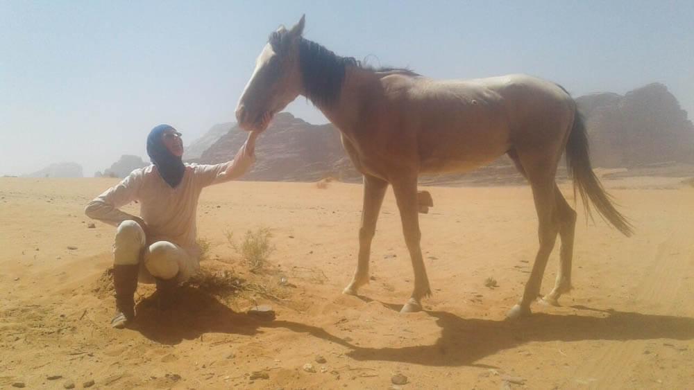 Paardrijden woestijn Jordanië