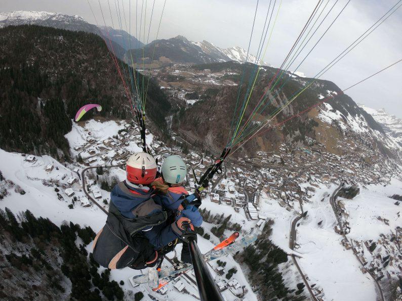 Paragliding La Clusaz skigebied