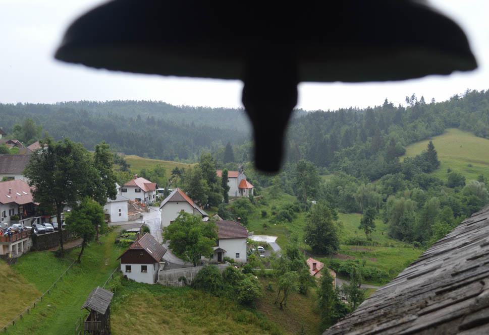 Uitzicht vanuit Predjama Castle