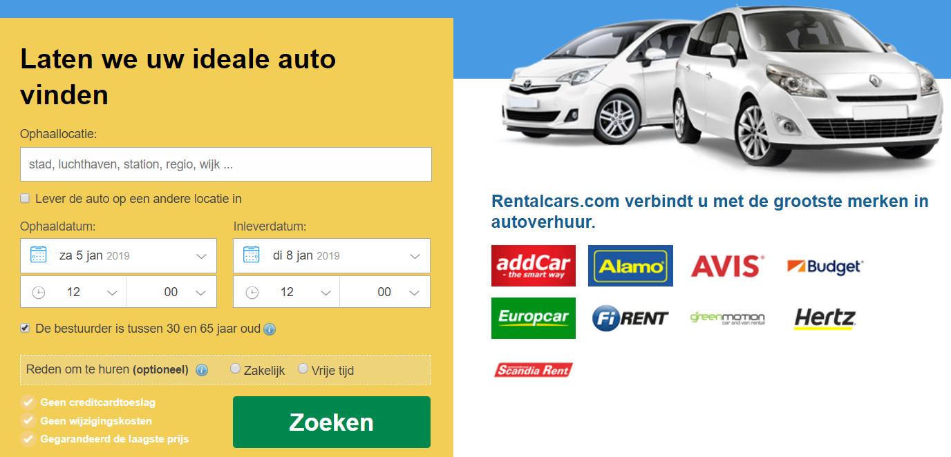 Autoverhuur prijsvergelijking