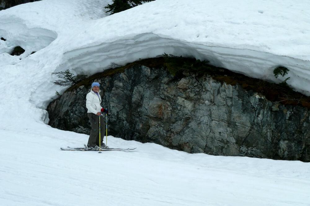 Skiën op de gletsjer