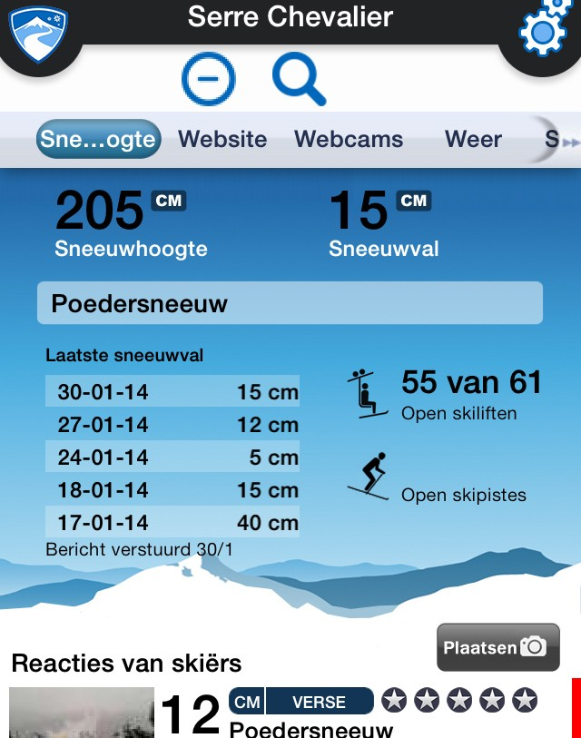 Skiinfo sneeuw app