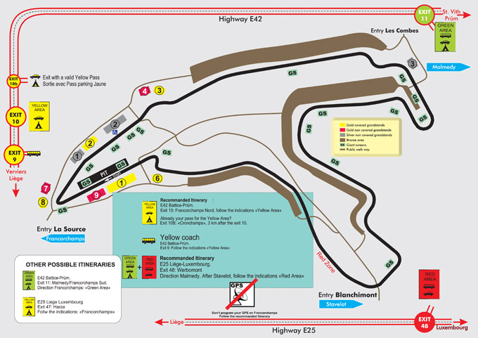 Formule 1 tickets Spa en parkeren