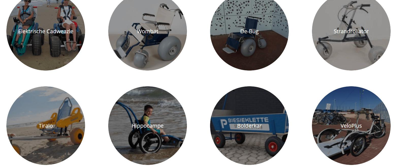Strand rolstoel huren in Scheveningen
