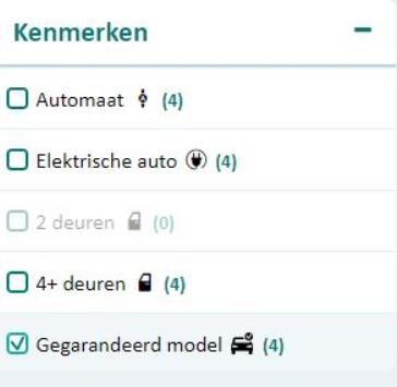 Hoe vind ik een gegarandeerd auto model