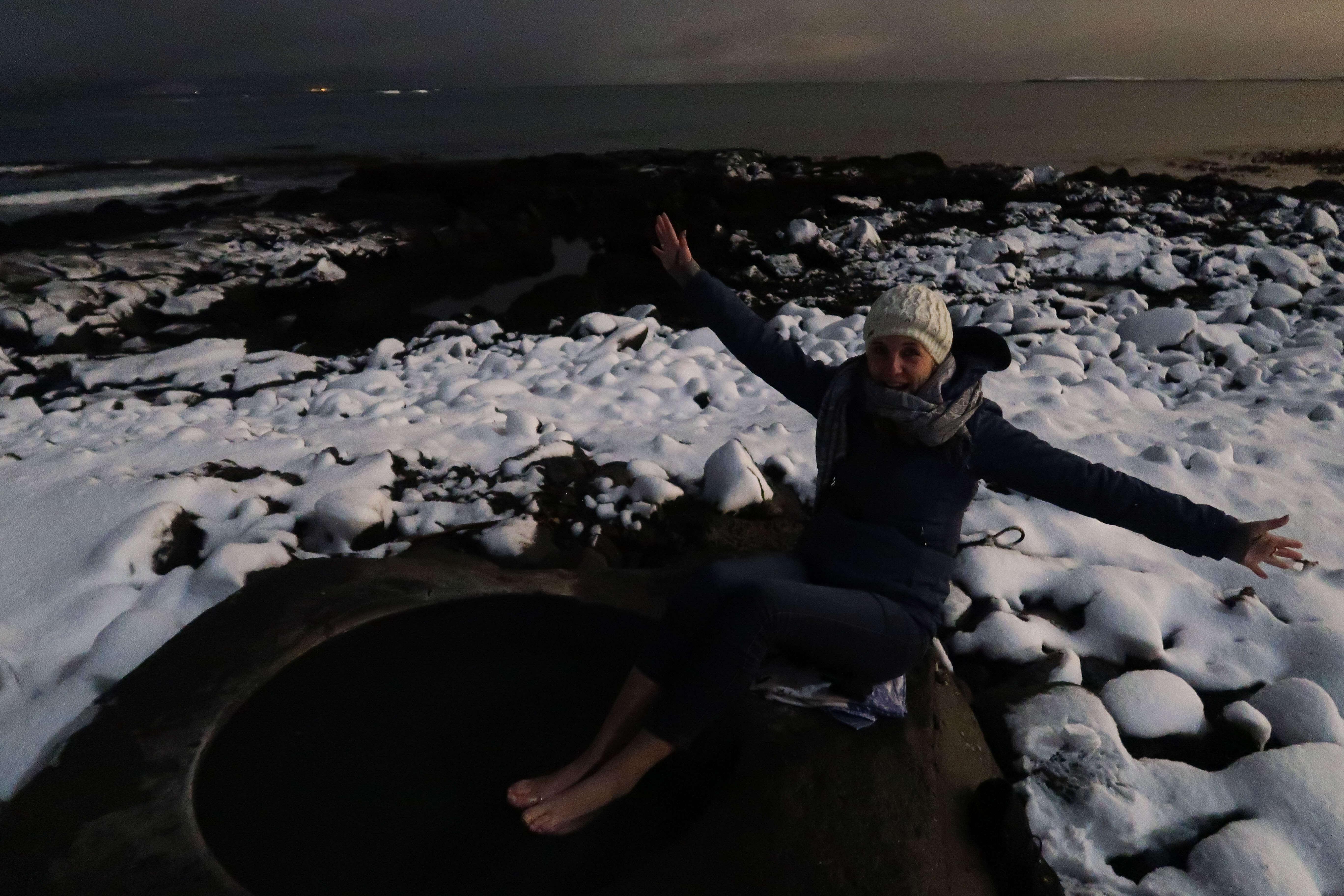 Warme voeten in het Kvika Footbath