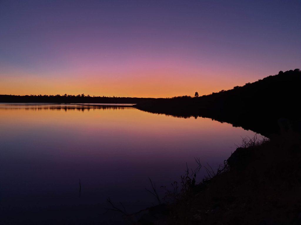 Zonsondergang Alqueva meer - Alentejo