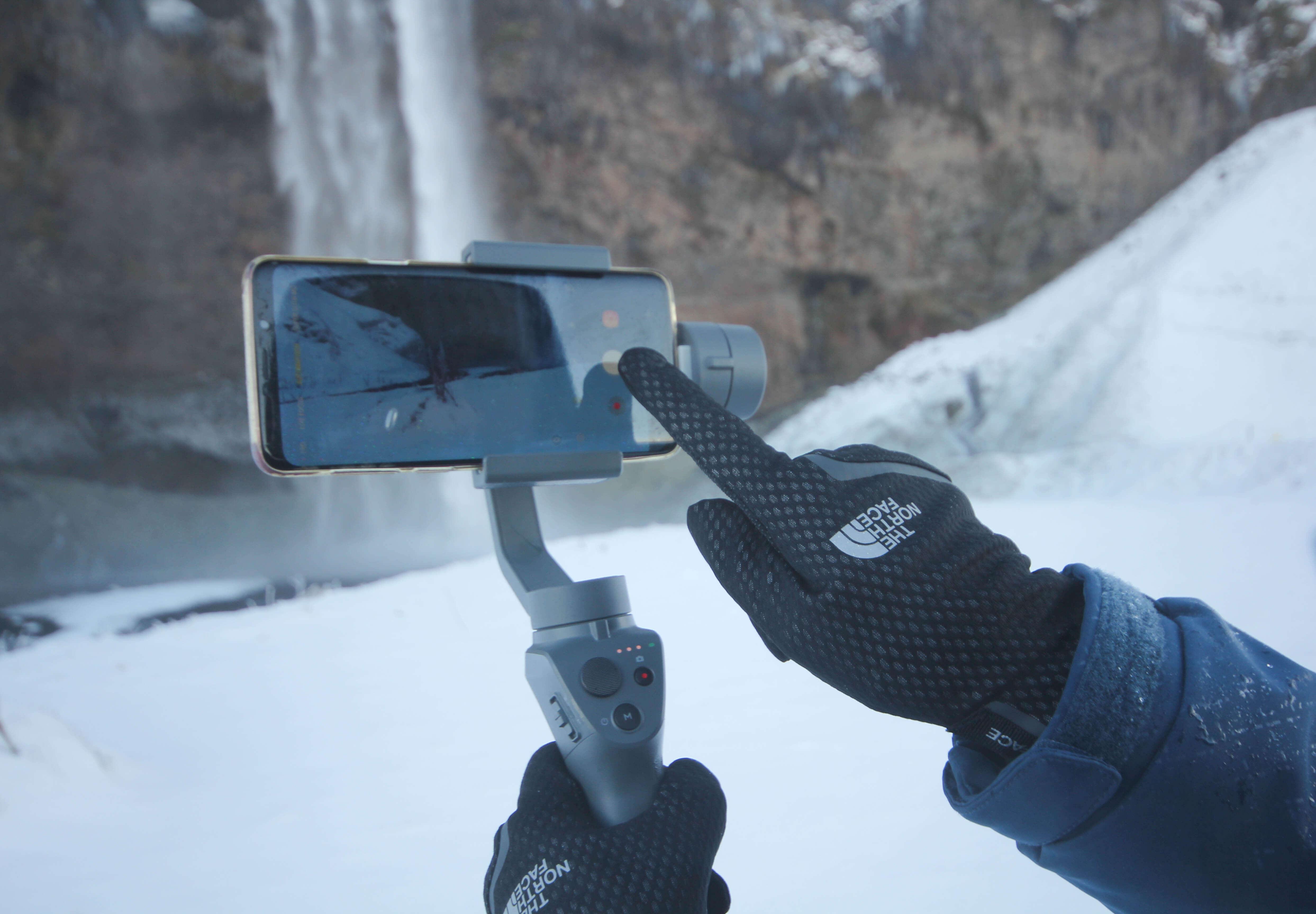 Touchscreen handschoenen in de winter